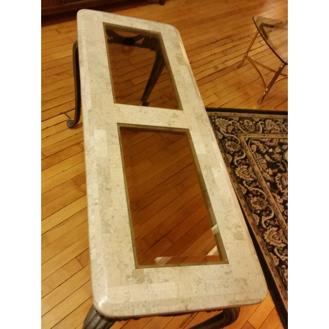 Tesselated Stone & Cast Iron Console Table - Image 3 of 6