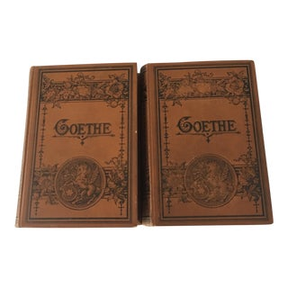Pair of Antique German Books by Goethe