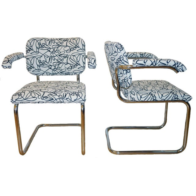 Marcel Breuer Style Mid Century Chrome Chairs - 2 - Image 1 of 3