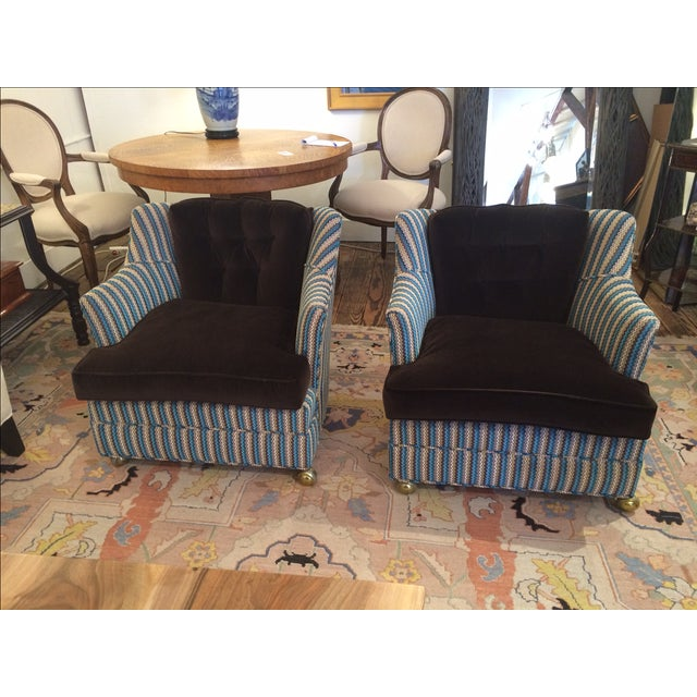 Vintage Reupholstered Club Chairs - A Pair - Image 2 of 9