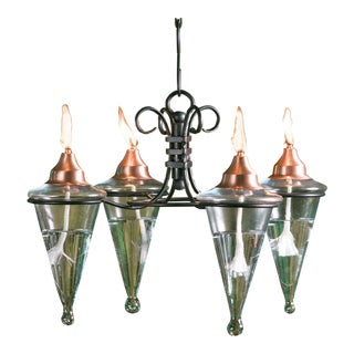 Four Torch Chandelier