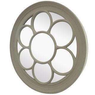 Ballard Design Round Floral Mirror