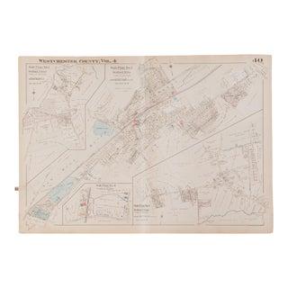 Vintage 1930s Hopkins Bedford Village NY Map
