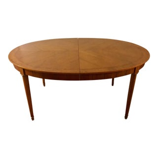 American of Martinsville Walnut & Burlwood Oval Dining Table