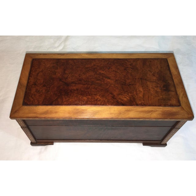 Vintage Burl Oak Gentleman's Trinket Box - Image 3 of 6