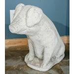 Image of Cast Stone Pig Garden Ornament