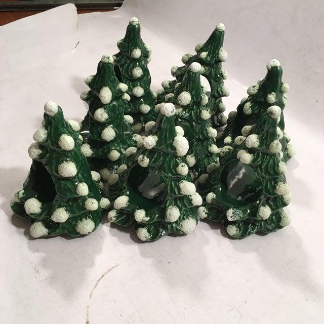 Vintage Christmas Tree Napkin Rings - Set of 8 - Image 4 of 8