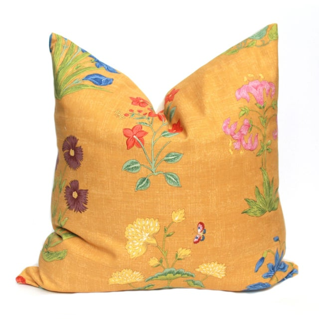 Yellow Botanical Pillow - Image 1 of 3