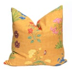 Image of Yellow Botanical Pillow