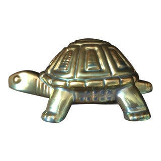 Zsolnay Porcelain Turtle Figurine - New With Box