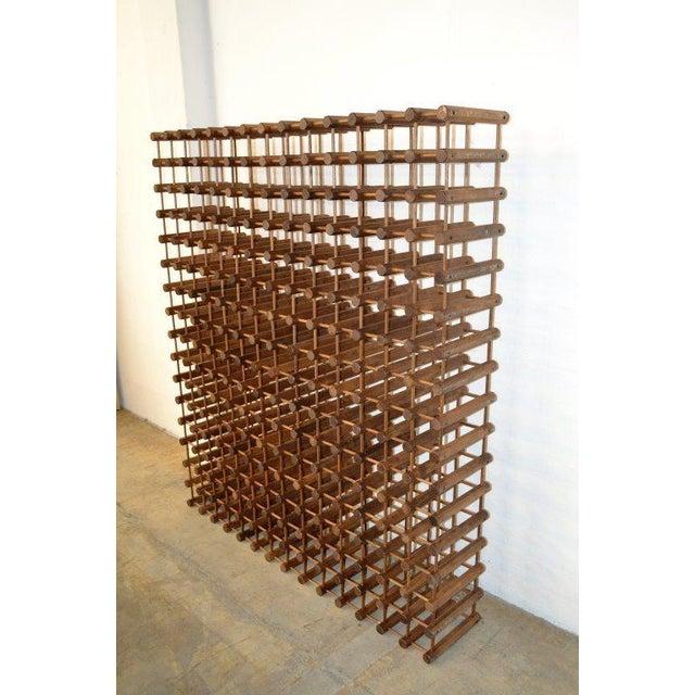 Monumental Modernist Wood Wine Rack - Image 3 of 5