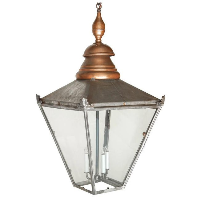 Large Copper and Zinc French Lantern - Image 5 of 8