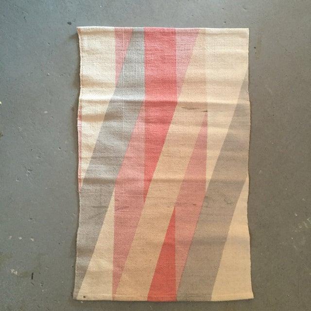 "Color Block Screen Print Rug - 3'1"" X 2' - Image 2 of 5"