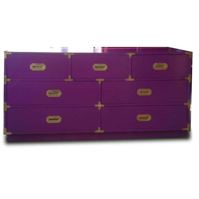 Vintage Campaign Purple Chest - Image 6 of 10