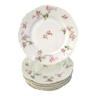 Haviland Limoges Rose Luncheon Plates Set of 6