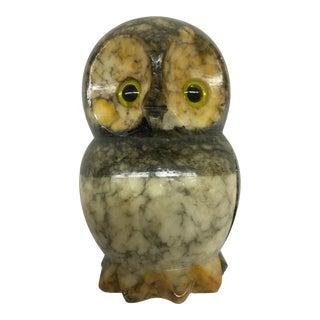 Hand Carved Alabaster Owl