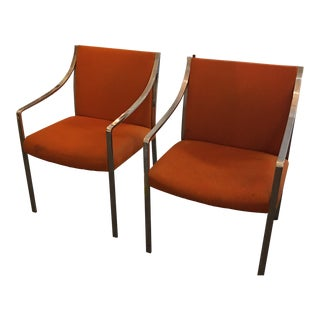 Stow Davis Vintage Chrome Chairs - A Pair