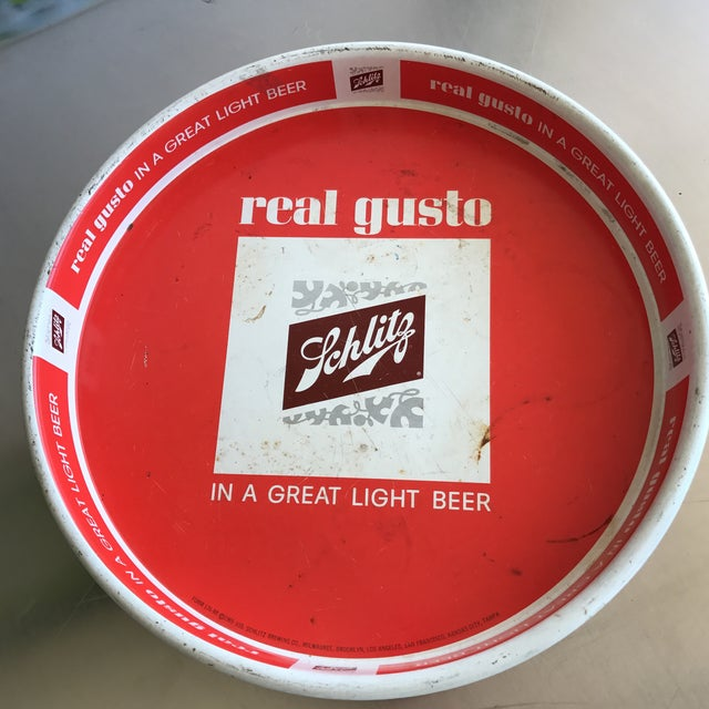 Schlitz Vintage Red Tray - Image 2 of 4
