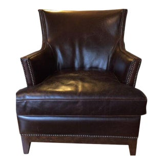Leather Club Chair With Nailheads