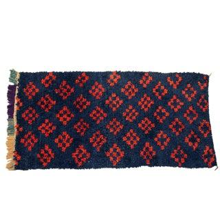 """Vintage Boucherouite Carpet - 6'2"""" X 3'3"""""""