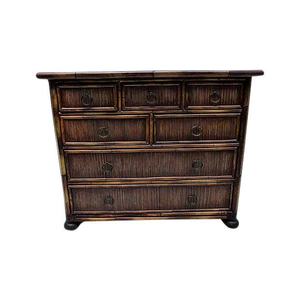 Image of Baker Furniture Bamboo Dresser