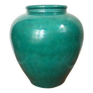 Teal Green Ceramic Vase
