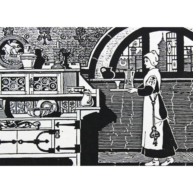 1910s Kitchen Advertisement Wood Block Print - Image 3 of 5