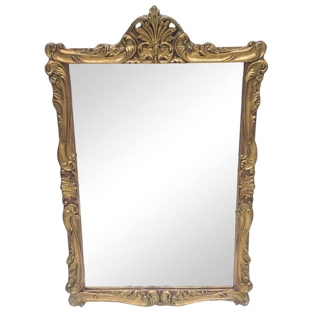 Image of Gilt Art Nouveau Wall Mirror
