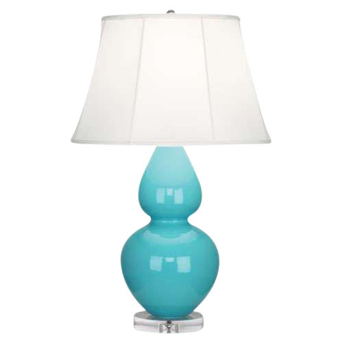 Large Robert Abbey Egg Blue Double Gourd Lamp - Image 1 of 2