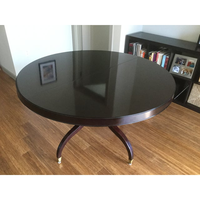 Thomasville Oval Coffee Table: Thomasville Nocturne Round Dining Table & Leaf