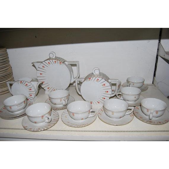 Image of Deco Tea Set from Czechoslovakia