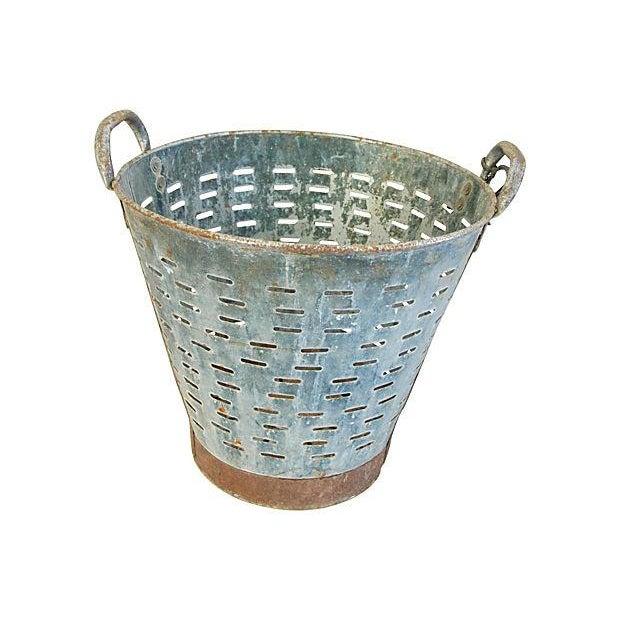 Image of Vintage Large European Harvest Gathering Basket
