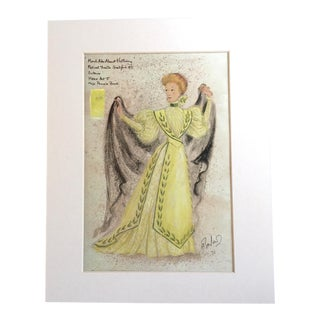 "Vintage Stratford Festival Design Folio, ""Hero"" in Shakespeare's ""Much Ado About Nothing"" Costume Print"