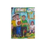 Image of Original Oil Painting on Paper of Sandlot Kids