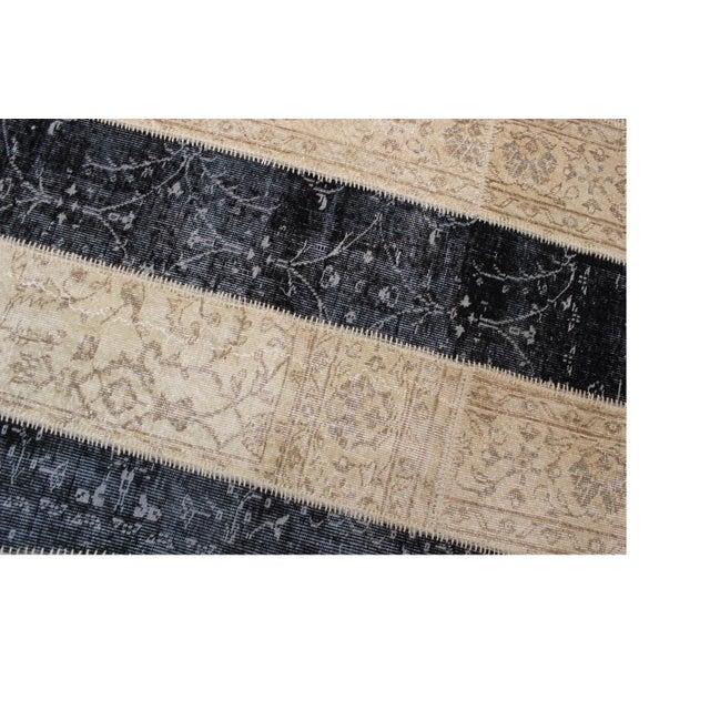 Turkish Zig Zag Anatolian Patchwork Rug - 8′7″ × 10′3″ - Image 4 of 7
