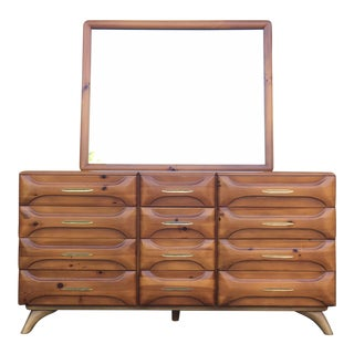 Franklin Shockey Mid-Century Sculptured Pine Dresser