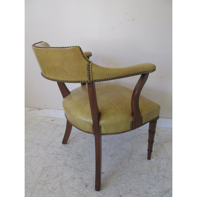 Vintage Butterscotch Leather Armchairs - A Pair - Image 6 of 11