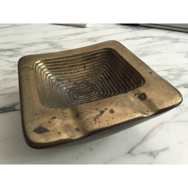 Ben Seibel Brass Square Ashtray - Image 2 of 6