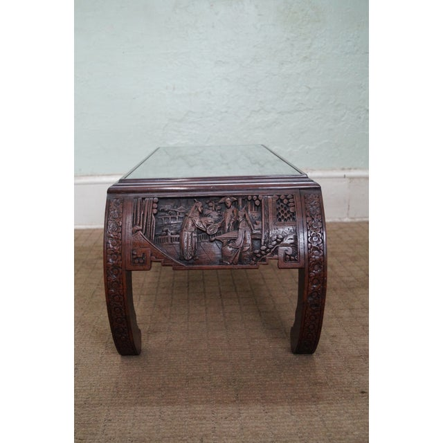 George Zee Vintage Carved Chinese Coffee Table