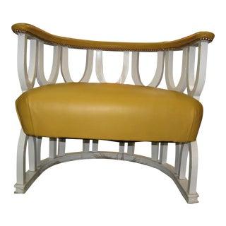 Fabulous Repurposed Vintage Leather Barrel Chair