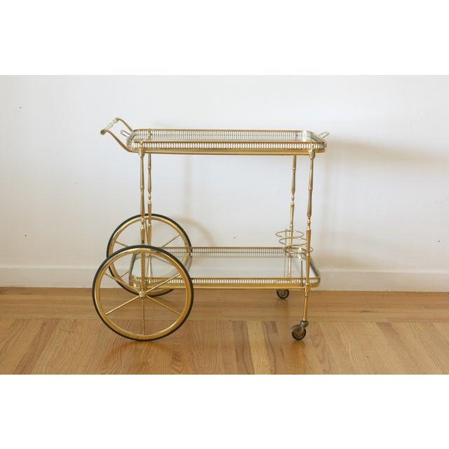 Hollywood Regency Brass Cart - Image 5 of 5