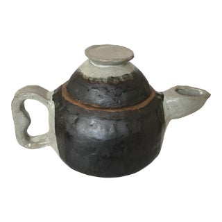 Large Primitive Handmade Tea Pot