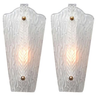 Vintage Murano Glass Sconces - A Pair