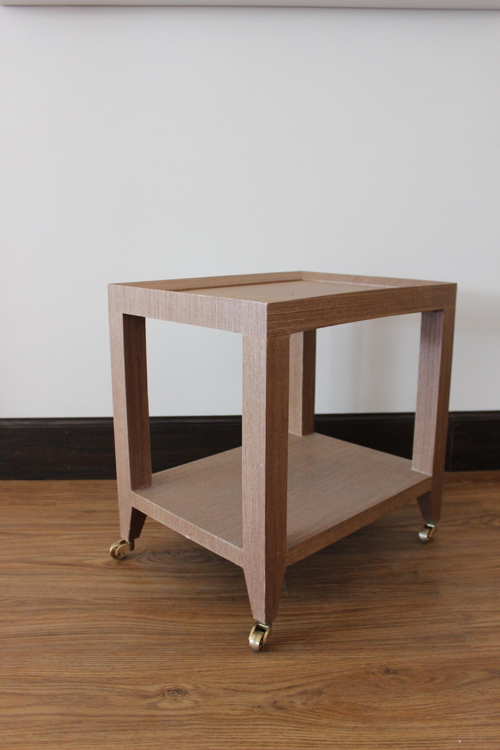 Bungalow 5 Lacquered Grasscloth Tea Table   Image 4 Of 5