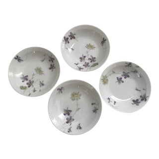 Haviland & Co. Limoges Violets Plates - Set of 4