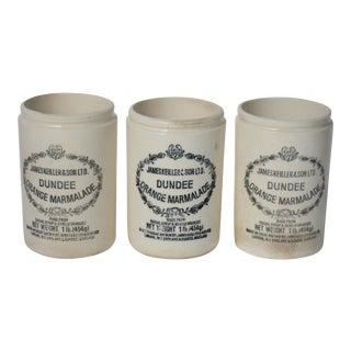 Vintage English Marmalade Jars - Set of 3