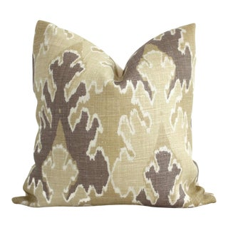 "20"" x 20"" Bengal Bazaar Straw Mushroom Ikat Pillow Cover"