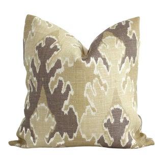 Bengal Bazaar Straw Mushroom Ikat Pillow Cover