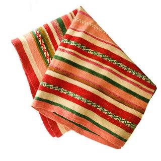 Peruvian Frazada Red & Green Throw