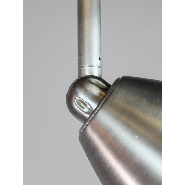 A Pair of Mid-Century Modern Nickel Pendant Lights - Image 7 of 8